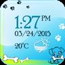 小狗 数字 天气 时钟