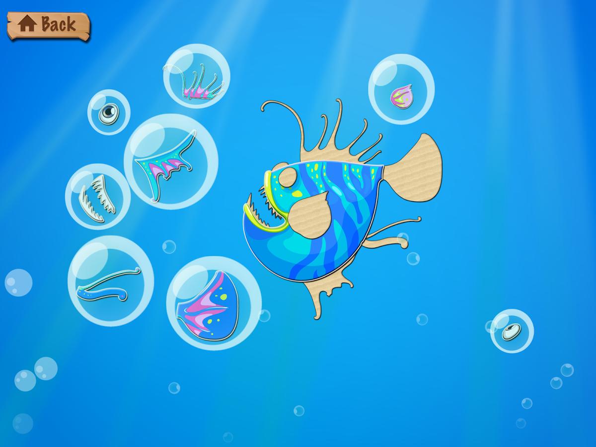 水下拼图 - 海和海洋动物为孩子和幼儿
