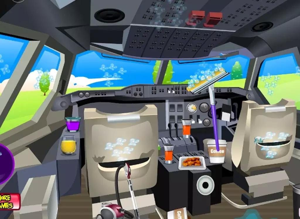 这是暑假!你打算在假期与你的家人?您可以通过汽车,火车,巴士或飞机去!在这个游戏中你是谁需要在下次飞行之前清洗飞机空姐。首先,你可以做室内的私人飞机。它在这个平面上的真正的混乱你能帮空姐把它清理干净? 有3个在这个干净的游戏的女孩。 室内射流 驾驶舱 平面的室外 游客和飞行员做,当他们飞往他们的假期命运的飞机弄得一塌糊涂,现在你可以清理垃圾。你开始清理室内的飞机。做乱七八糟的垃圾桶,并把美好的东西放回原处,他们的归属。您还需要吸尘和灰尘的房间。当您准备好与你的室内与驾驶舱走得更远。还试点工作取得他的飞
