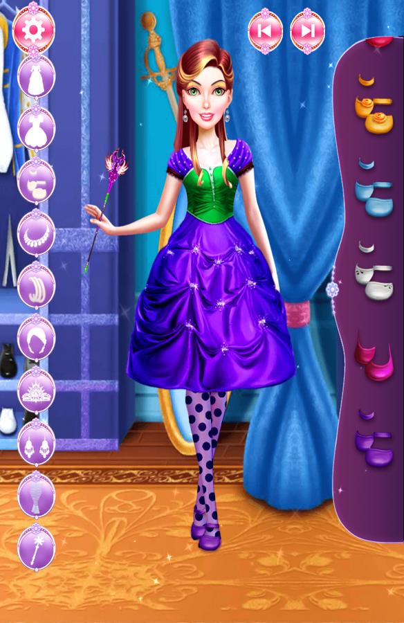 你能帮这个换装游戏,这些可爱的公主?