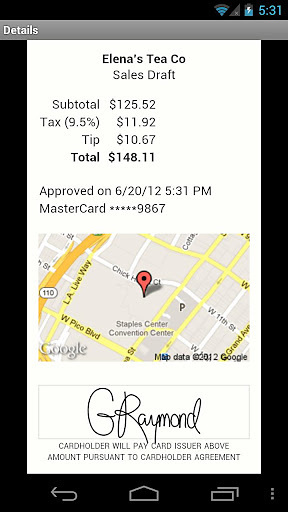 信用卡终端APP截图