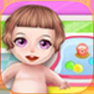 宝宝洗澡的女孩游戏