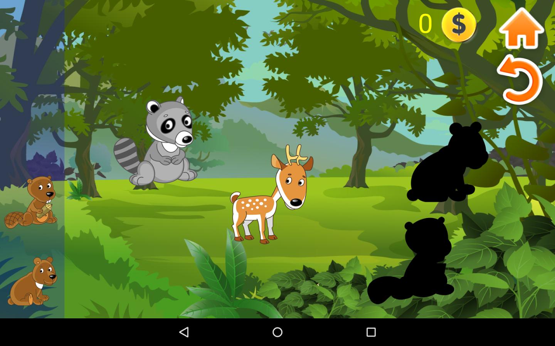 该游戏由3个景观背景和34种动物用动画和音频效果.